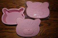 Set/2 Pottery Barn Kids My First 1st Snack Container Pink Kitty Cat Lunch