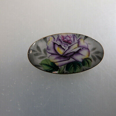Sonderabschnitt Trachtenbrosche Blumen Farbige Emaille Um 1920 (55549) Verkaufspreis