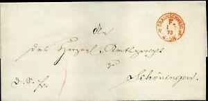 413838) Franco-cachet Rouge K1 Braunschweig F. 1873 Sur Blg N. Armurerie-afficher Le Titre D'origine Remises Vente