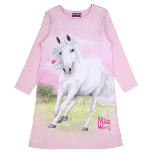 NUOVO MISS MELODY Camicia da Notte manica lunga tg 104 116 128 Ziparo Sleepshirt manica lunga