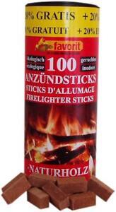Favorit 1257 Anzündsticks 120 Stk Anzündstick Kamin-Anzünder Ofenanzünder TOP