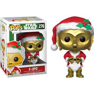 Star-Wars-C-3PO-as-Christmas-Santa-Pop-Vinyl-Figure-NEW-Funko