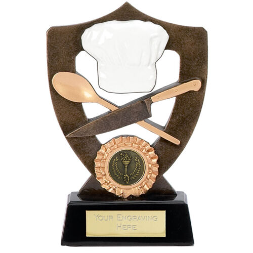 """CHEF Cookery Trophy FREE ENGRAVING Personalised Bake Off Award 5.25/"""" or 6.75/"""""""