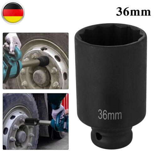 """30//36mm Vielzahn Nuss-1//2/"""" Kraft Steckschlüssel Antriebswellen Werkzeug Metrisch"""
