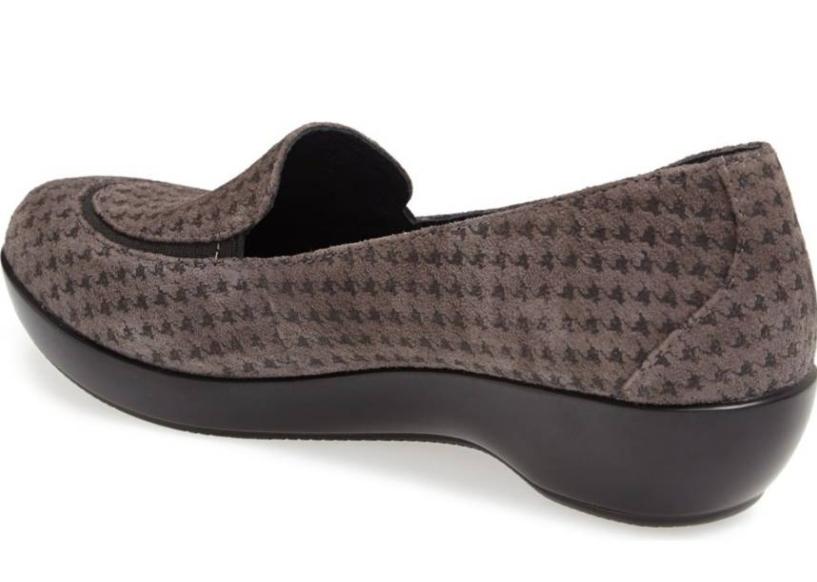 Dansko Debra Houndstooth femmes gris Suede Slip Slip Slip On Loafers Euro Sz 36 1092 362c57