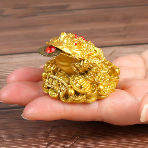 Oriental Fortune Chinese Frog Coin Feng Shui Toad Money Lucky Home Office Sight