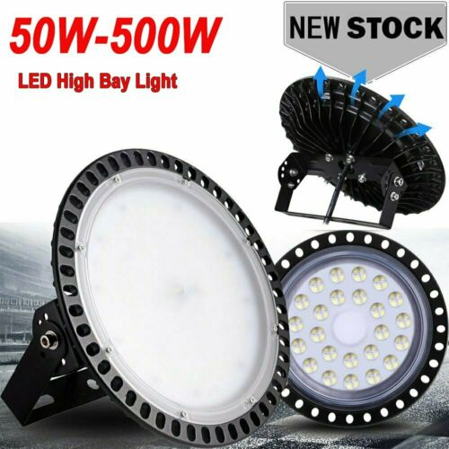 HOT LED High Bay Light 500W 300W 200W 100W Watt Warehouse Led Shop Fixture UFO