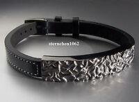 Herren Leder Armband Mit Edelstahl