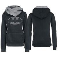 Chic Womens Hooded Long Sleeves Pocket Batman Printed Hoodie Winter Coat Jacket