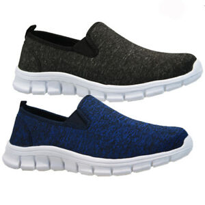 mens slip on running walking trainers casual canvas pumps