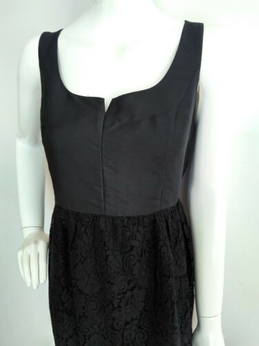 lana Gonna pizzo di Dress Black Twice Taglia 14 used Seta Bennett Shift Lk Designer zTwCOq
