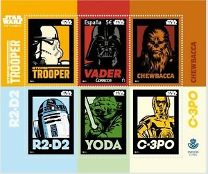 Details About 2017 Spain Correos 5 Euro Cinema Star Wars 40th Anniversary 3d Darth Vader Stamp