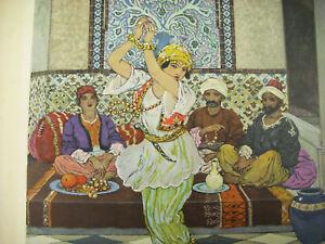 Respectueux Les 1000 Lmille Et Une Nuits Estampe Léon Carré 1926 Orientalisme Conte Arabe
