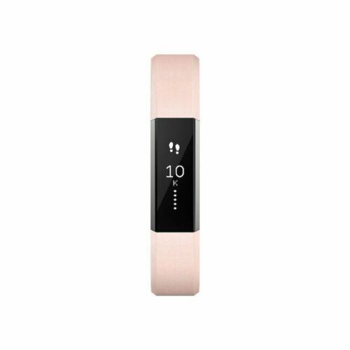 Fitbit Alta HR FB408RGPKS Fitness Activity Tracker Leather Blush Pink Small