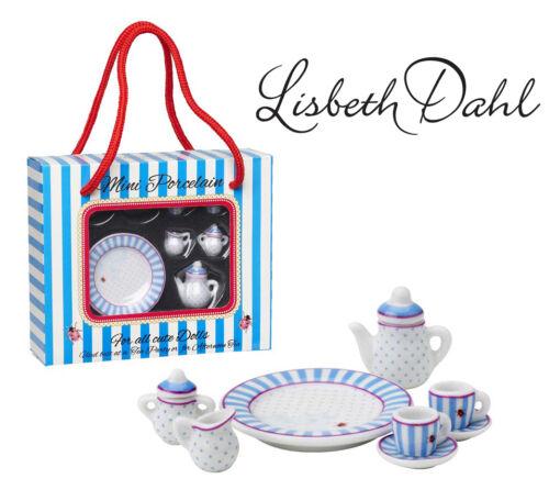 Lisbeth Dahl Mini-Porzellan-Set,8.teilig,Kanne,Puppenhaus,Tee,Puppengeschirr NEU