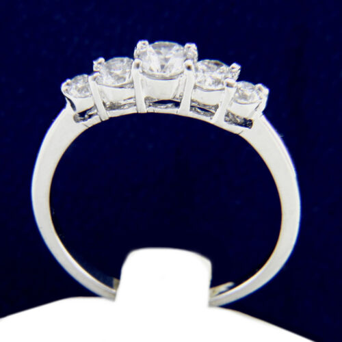 Details about  /Engagement Ring New Women/'s 0.79 CT Round Cut CZ Brass Band