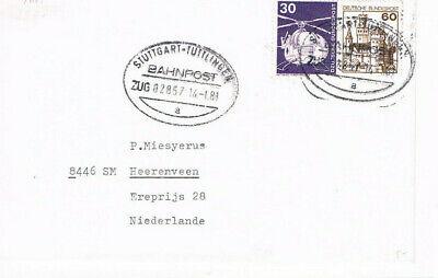 Tuttlingen // Bahnpost 1981 Bestellungen Sind Willkommen. Aufrichtig Stuttgart Diverse Philatelie
