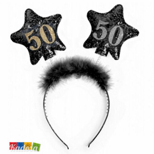 Cerchietto 50 Anni Stelle PHOTOBOOTH scherzo festa party Leva compleanno
