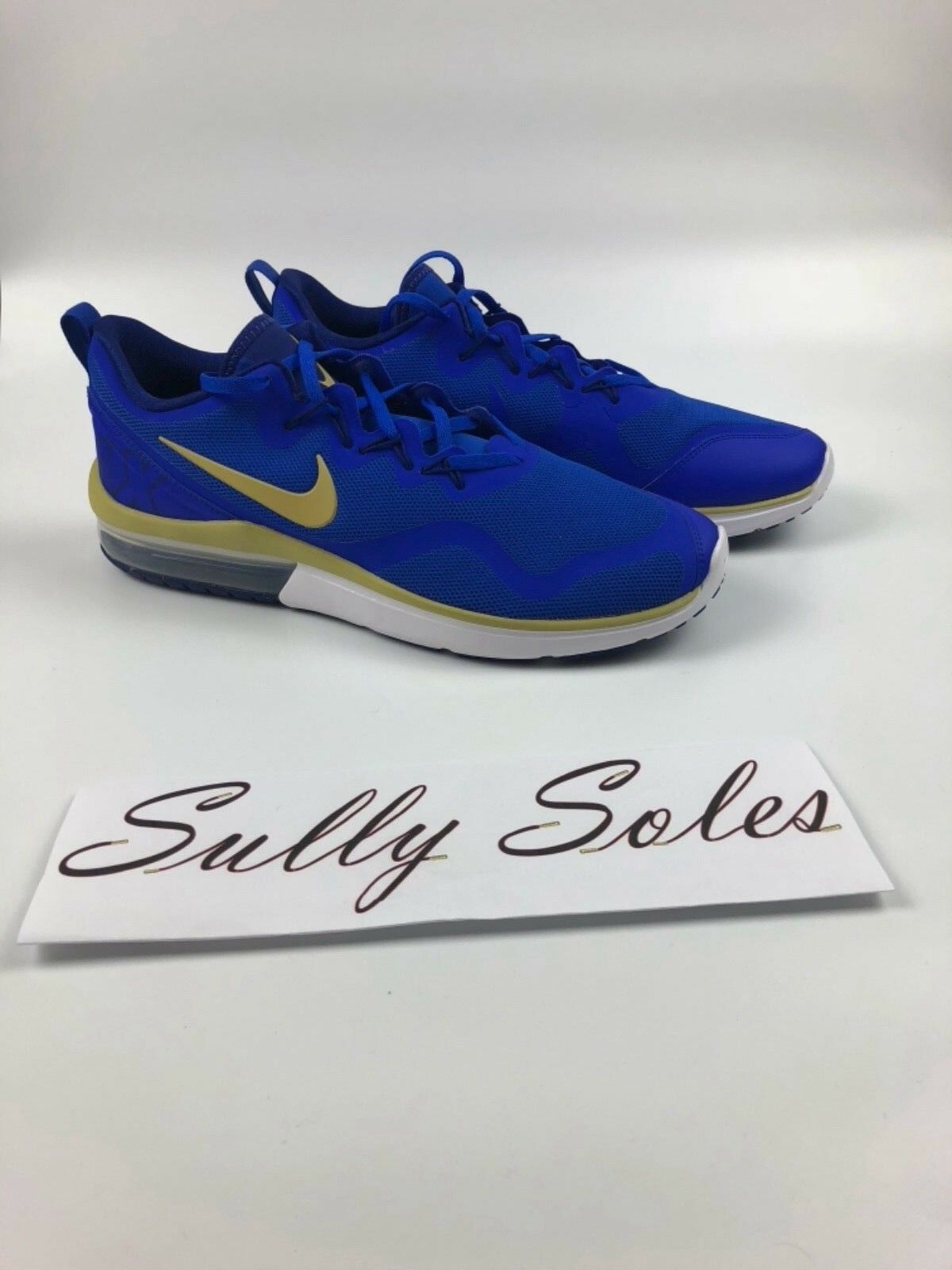 Men's Nike air max Fury Running shoes Multi size bluee gold white NEW