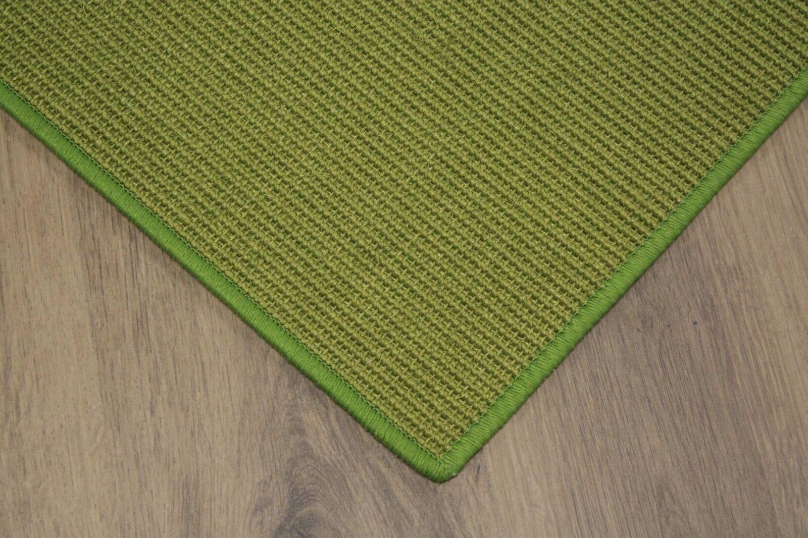 Sisal Tappeto verde 120x180cm 100% Agave Anelloin Loop