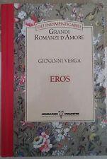 LIBRO GIOVANNI VERGA - EROS - MONDADORI DE AGOSTINI 1994