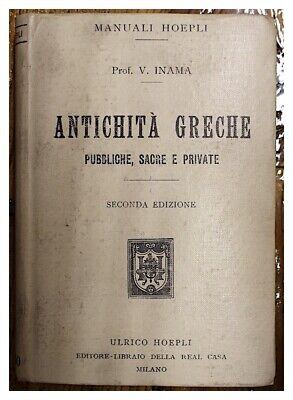 Hart Arbeitend Antike Griechische / Manuell Hoepli / 1908 Phantasie Farben
