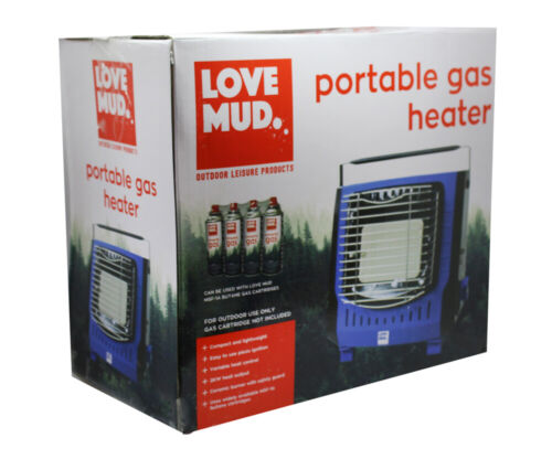 Potable Outdoor Camping Gas Heater Fishing Fan Garden Shed Heat Hiking Stove UK