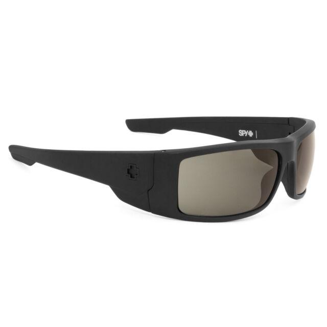 SPY Optic Konvoy Wrap Sunglasses KONVOY MATTE BLACK HAPPY GRAY GREEN 673181374863