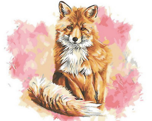 Fox Animal Drawing Canvas Picture Acrylic Oil DIY Paint Set by Numbers Kits Gift