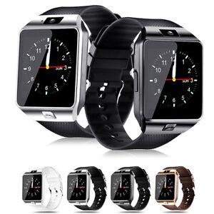 Smartwatch Bluetooth Armbanduhr iPhone Android Samsung mit SIM und Kamera Sport