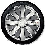 4 Copricerchi auto universali coppa ruota 15/'/' borchie GORECKI RST silver ABS