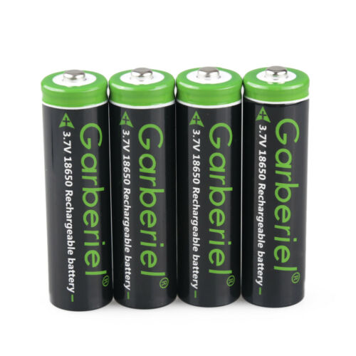 18650 Battery Li-ion 3.7V Rechargeable Batteries Details about  /T6 LED Flashlight Charger