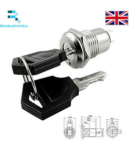 New-Quality-Practical-Durable-2-positon-on-off-key-switch-with-2-keys-Free-Post