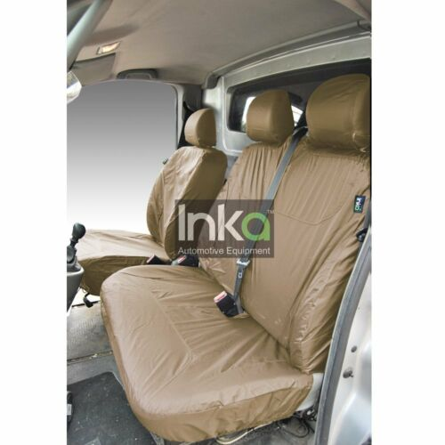 Renault Trafic Front Inka Tailored Waterproof Seat Cover Set Beige No AR MY01-14