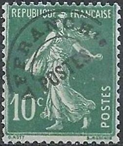 FRANCE-PREOBLITERE-TIMBRE-STAMP-N-51-034-TYPE-SEMEUSE-10C-VERT-034-NEUF-x-TB