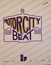 Radio Show: MOTOR CITY BEAT 3/21/87 MICHEAL JACKSON, MARVIN GAYE, SAM COOKE