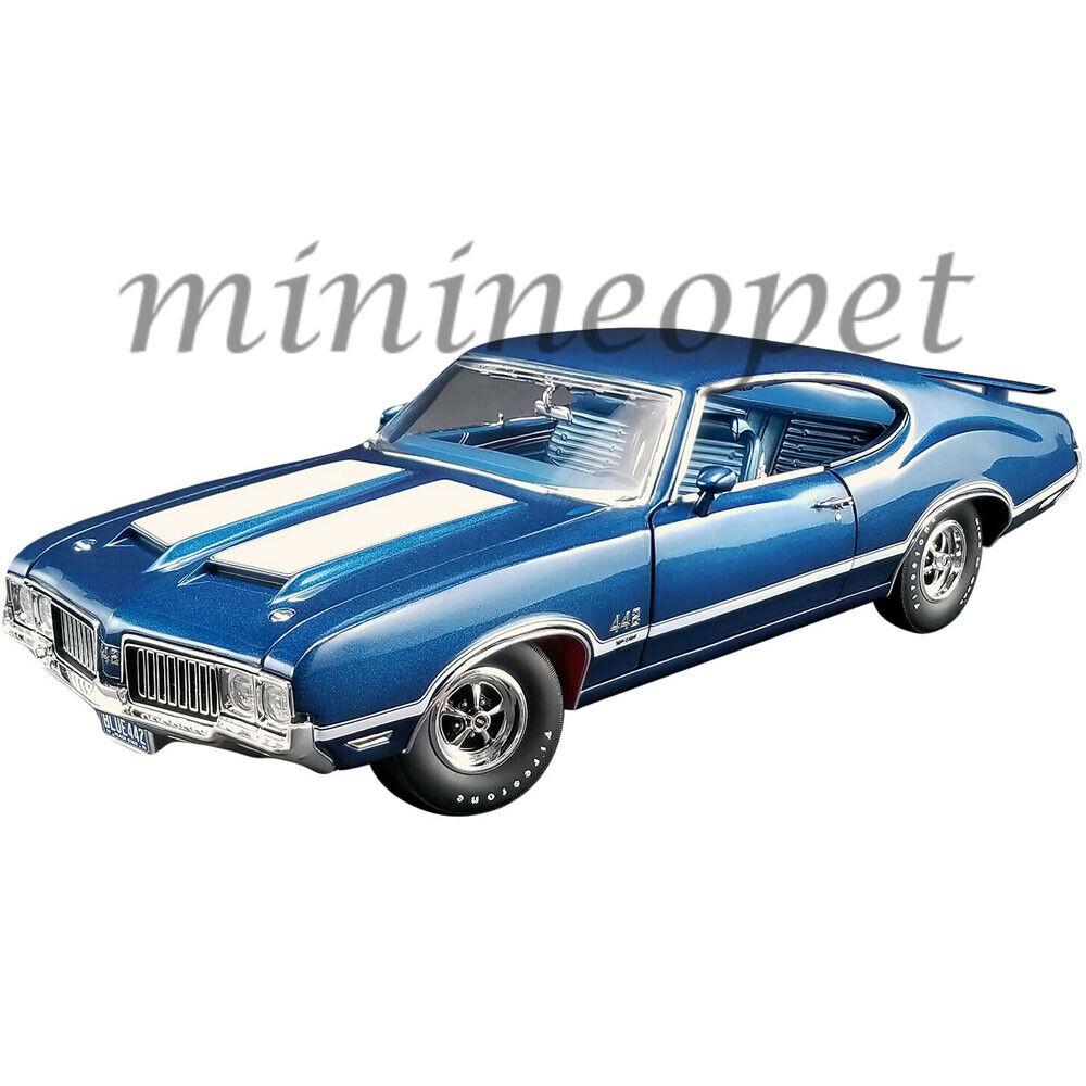 ACME A1805611 1970 OLDSMOBILE 442 W-30 1 18 DIECAST MODEL CAR blueE
