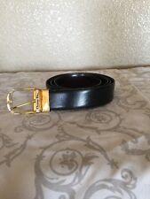 Christian Dior Black Brown Reversible Leather Belt Size 38 - 40