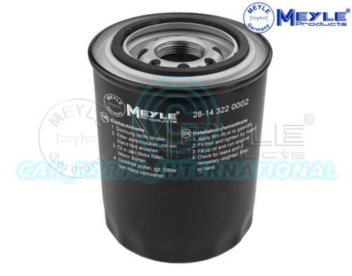 Screw-on Filter 28-14 322 0002 Meyle Oil Filter