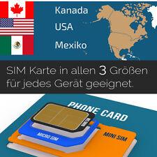 Prepaid t-Mobile USA/Kanada/Mexiko SIM Karte mit 6 GB Datenvolumen + nat. Tel.