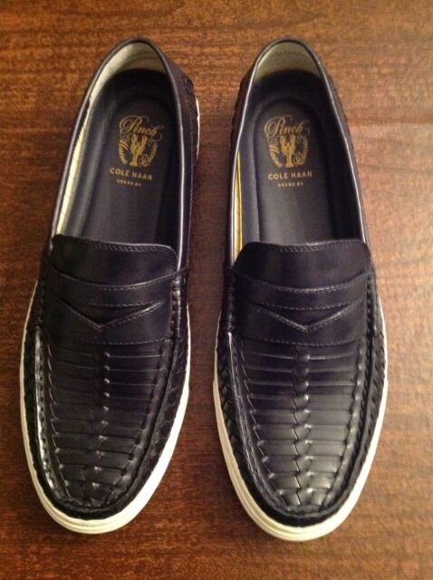840beb043b0 Cole Haan Men s Pinch Weekender LX Huarache Navy Leather Loafers 8m ...