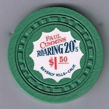 Paul Cummins Roaring 20's Rare $1.50 Casino Chip Beverly Hill California
