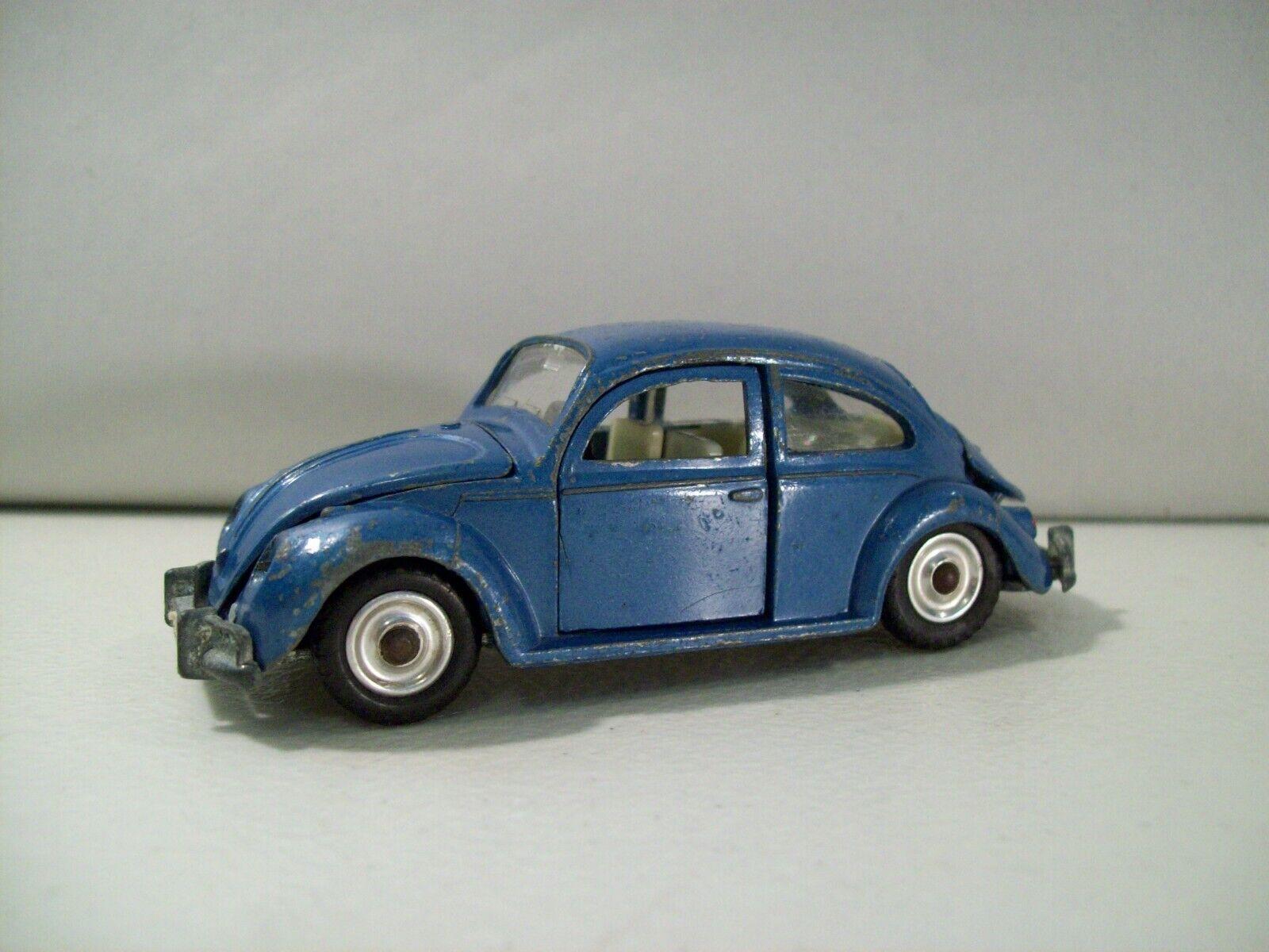 Vintage Dinky Juguetes Volkswagen De Luxe VW Beetle 129 Die Cast Auto Meccano England