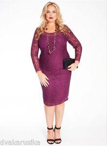 Details about NWT Federica Plus Size IGIGI Lace Dress in Wine, 22/24