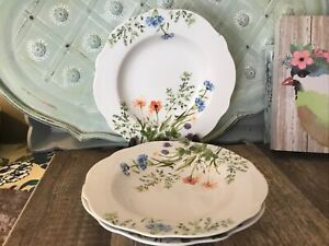 3-Soup-Cereal-Bowl-Fleurie-by-CUISINART-DINNERWARE-wide-rim-bowl-floral-EUC