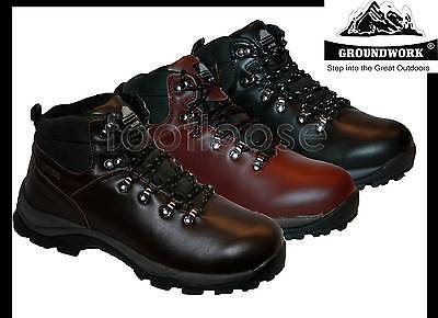 MENS FULLY WATERPROOF LEATHER UPPERS WALKING/HIKING/WINTER/SNOW BOOTS SIZE 7-13