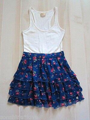 Hollister by Abercrombie Floral Logo Tank Dress Cute Summer Flirty XS M