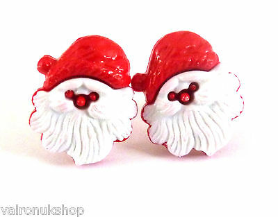 NOVELTY CHRISTMAS EARRINGS SANTA TREE PARCEL SNOWFLAKE HOLLY CLIP ON STUD MAGNET
