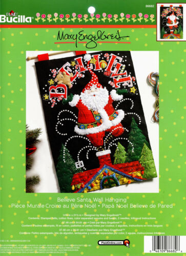 Bucilla Believe Santa ~ Felt Christmas Wall Hanging Kit #86682 European New 2016