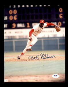 Bob-Gibson-PSA-DNA-Coa-Hand-Signed-8x10-Cardinals-Photo-Autographed